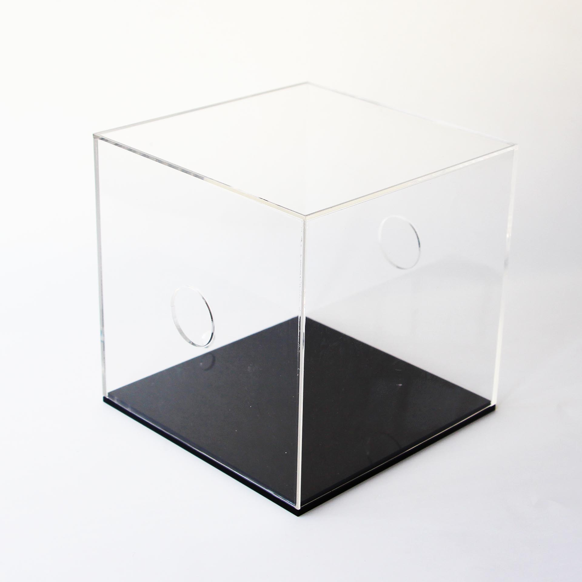 custom size acrylic display box with black base