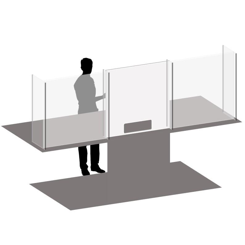 Sectional Free Standing Plexiglass Desk Shield