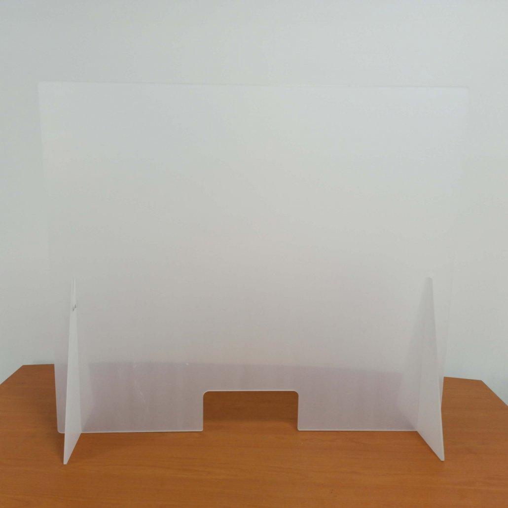 vertical sneeze guard plexiglass countertop shield