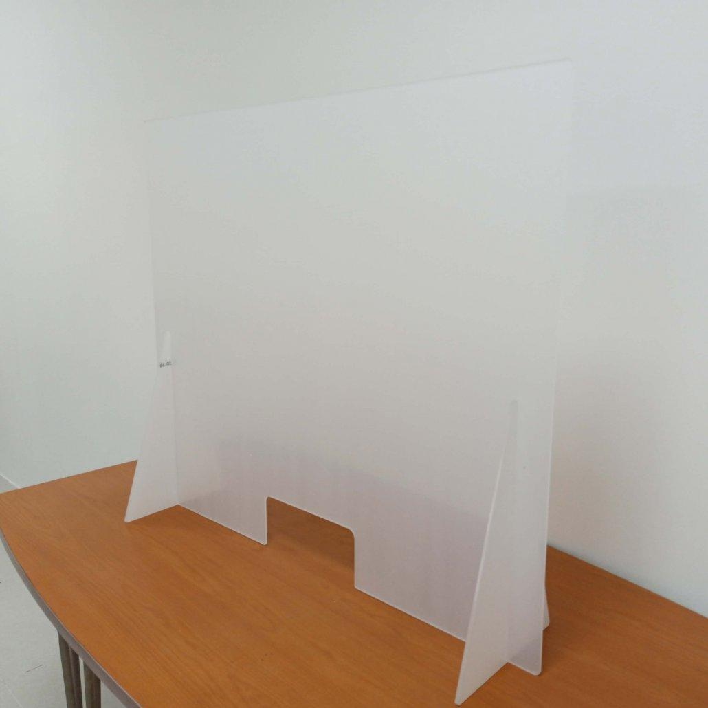 plexiglass sneeze guard countertop splash shield