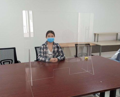 portable desk sneeze guard shield for countertop