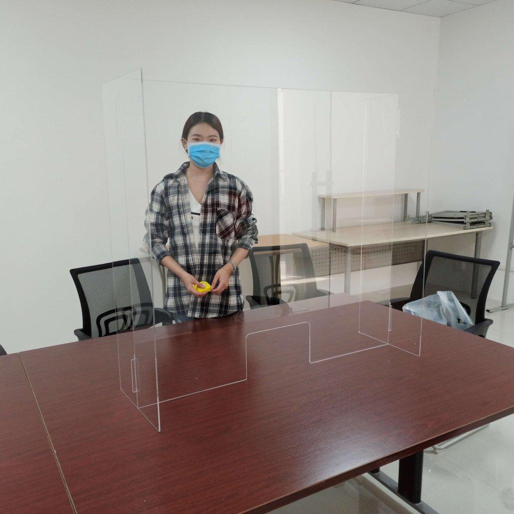 countertop protective shield plexiglass sneeze guards for sale