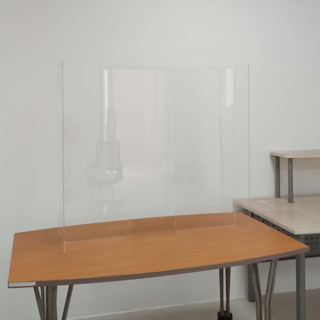 countertop glass shield acrylic sneeze guard portable