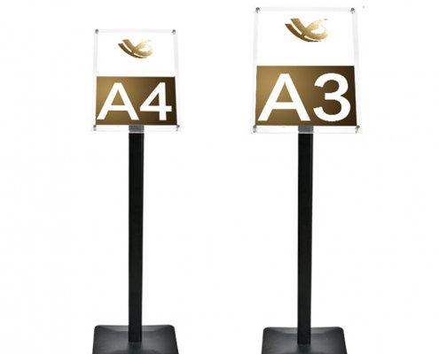 a4 perspex sign holder weatherproof outdoor sign holder