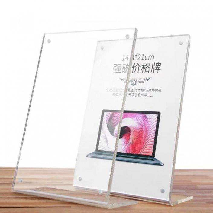 acrylic 8.5 x 11 slanted sign holders