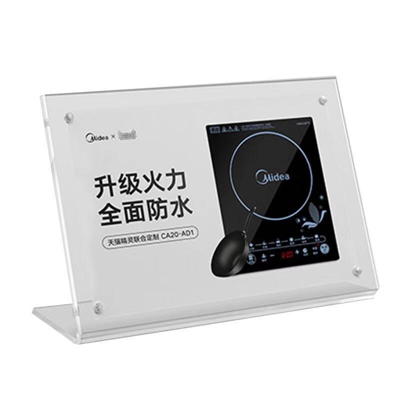acrylic 8.5 x 11 slanted sign holders horizontal