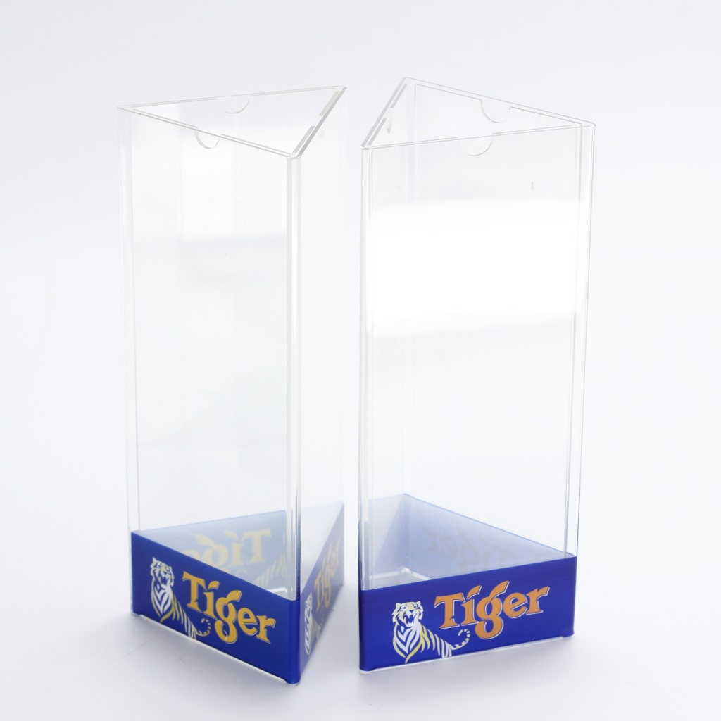3 sided table top poster display stands