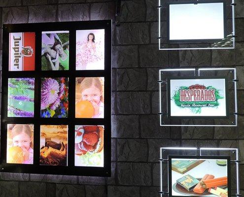acrylic wall sign holder acrylic led sign holders