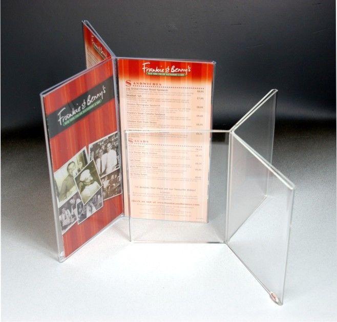 Multi Sides Plexiglass Sign Holders