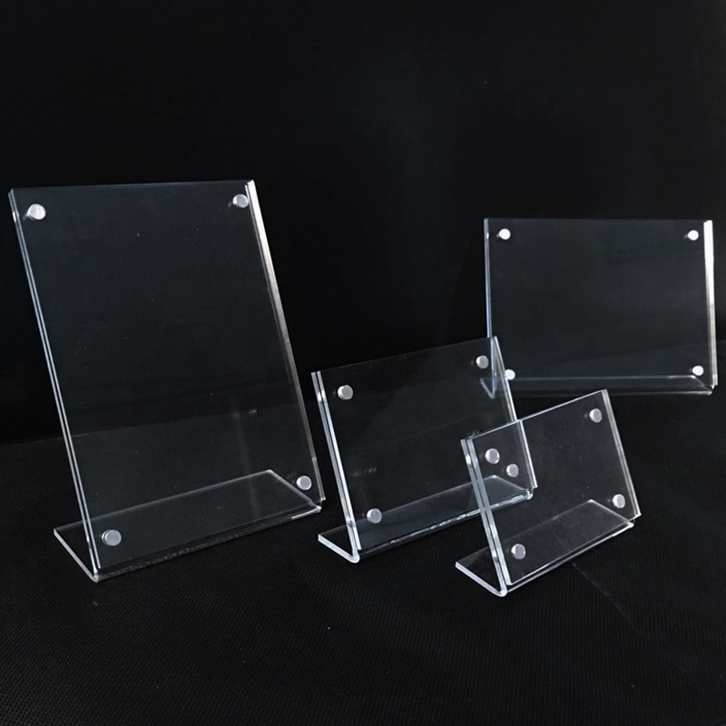 Slanted Magnetic Acrylic Sign Holders