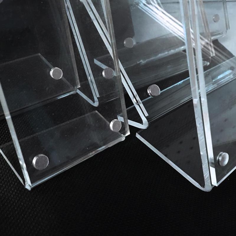 slant back clear acrylic sign holder