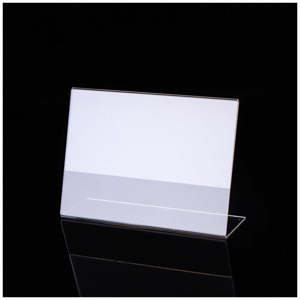 Slanted Sign Holder acrylic sign stand