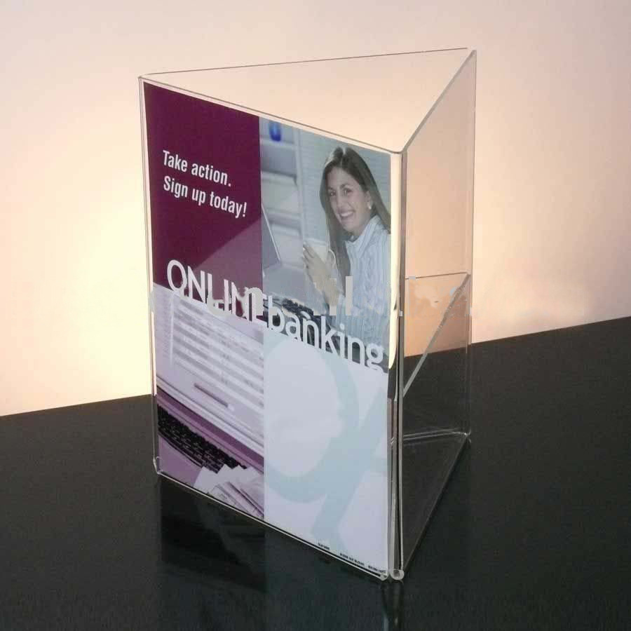 3 Sided Acrylic Sign Holder 8.5 x 11