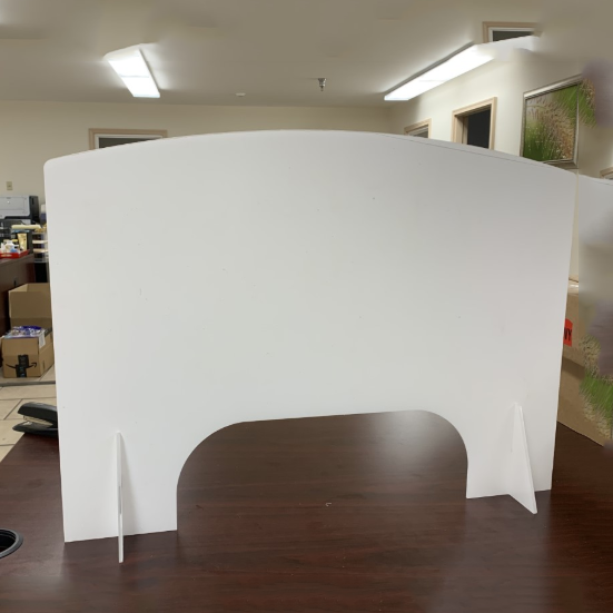 plexiglass countertop shield portable sneeze guard