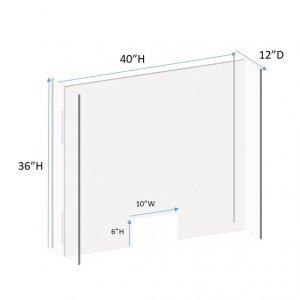 Portable Sneeze Guard Plexiglass Shields