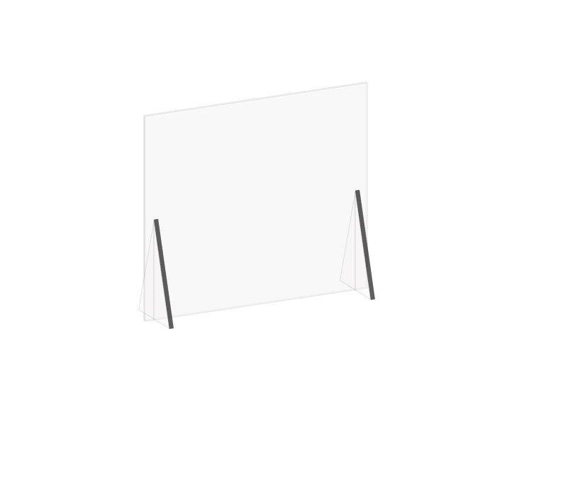 "Plexiglass Sneeze Guard Acrylic Countertop Shield 31.5""W X 36""H Ships Flat"