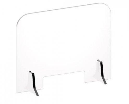 countertop clear acrylic splash shield sneeze guard