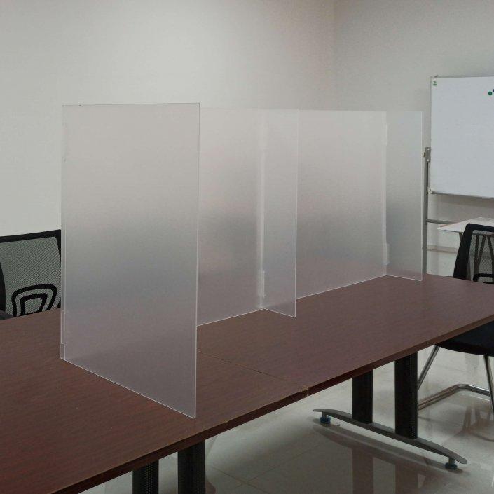 Splicing Acrylic Sneeze Guard Plexiglass Shield For Desk 72W X 24D
