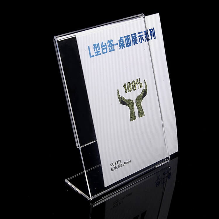 acrylic l shaped sign holders acrylic stand