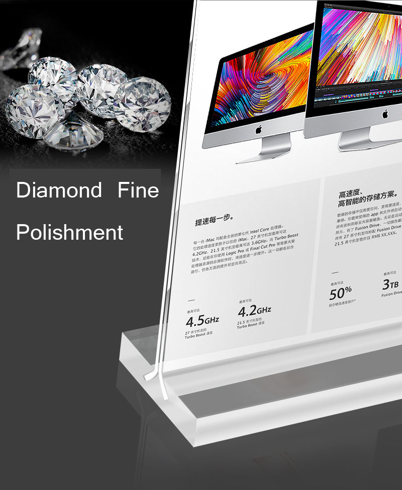 8.5 x 11 clear acrylic sign holder acrylic sign stand