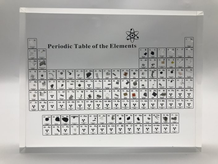 periodic table display with elements version D