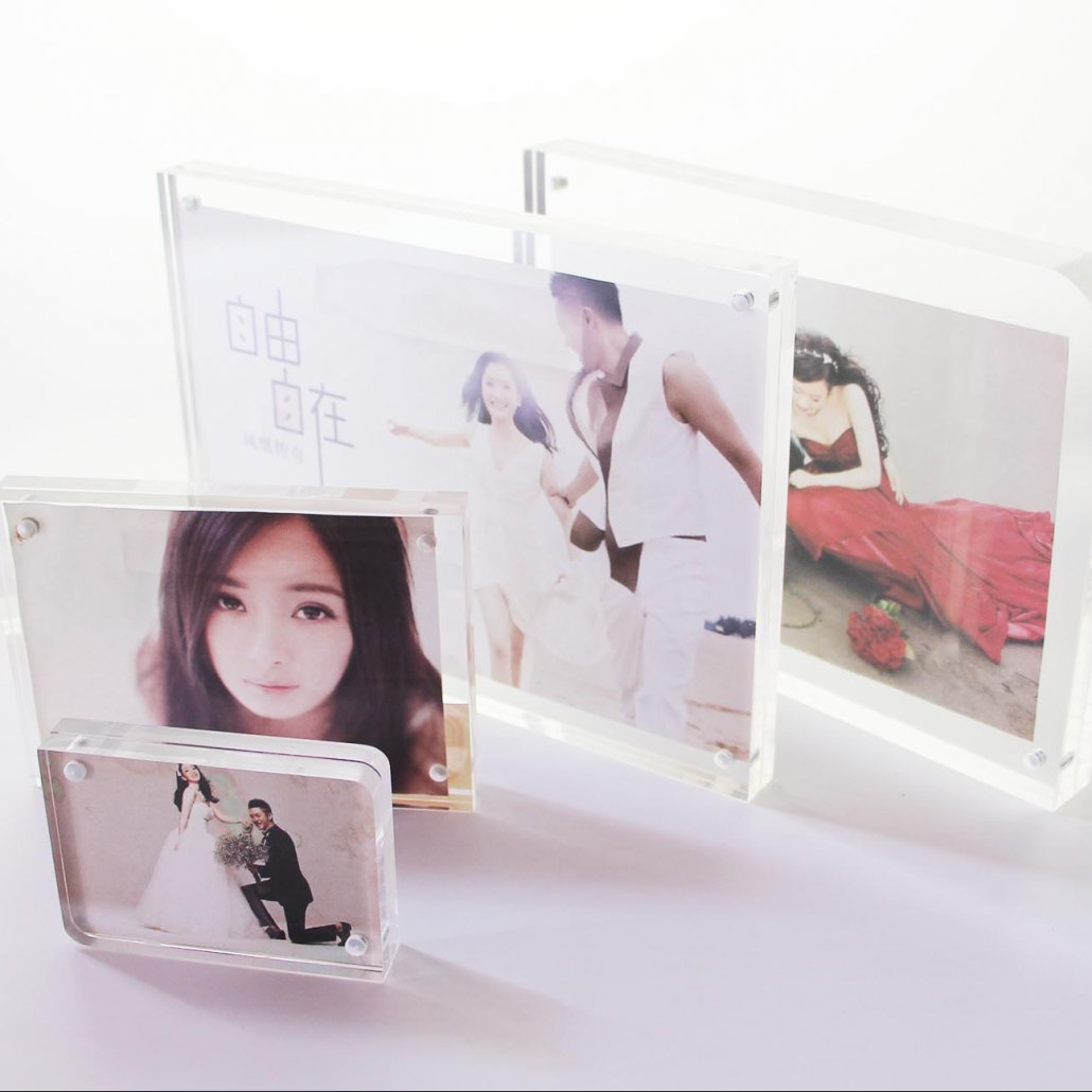 acrylic block magnetic sign holders