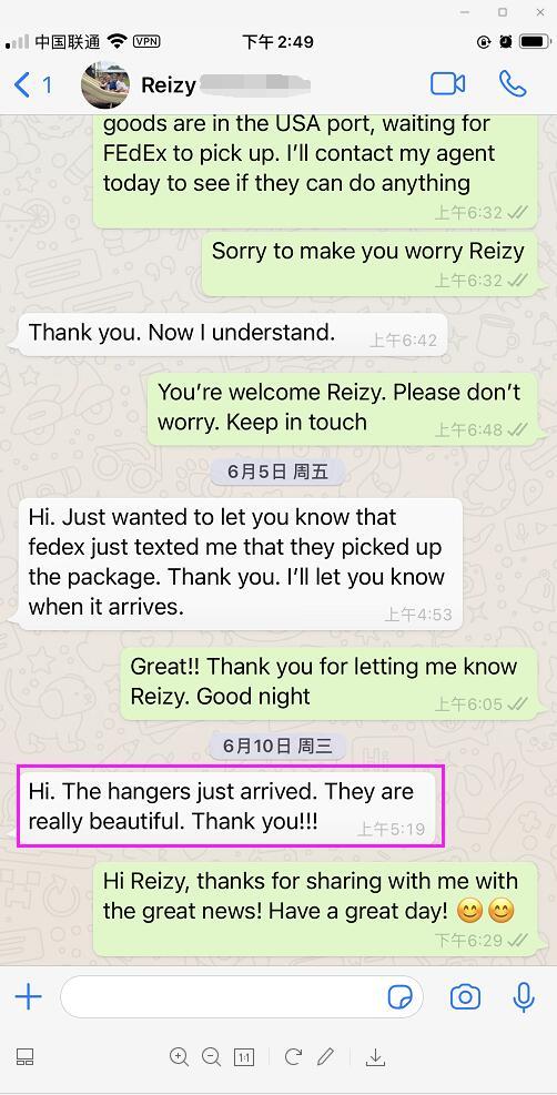 acrylic hangers feedback from Reizy