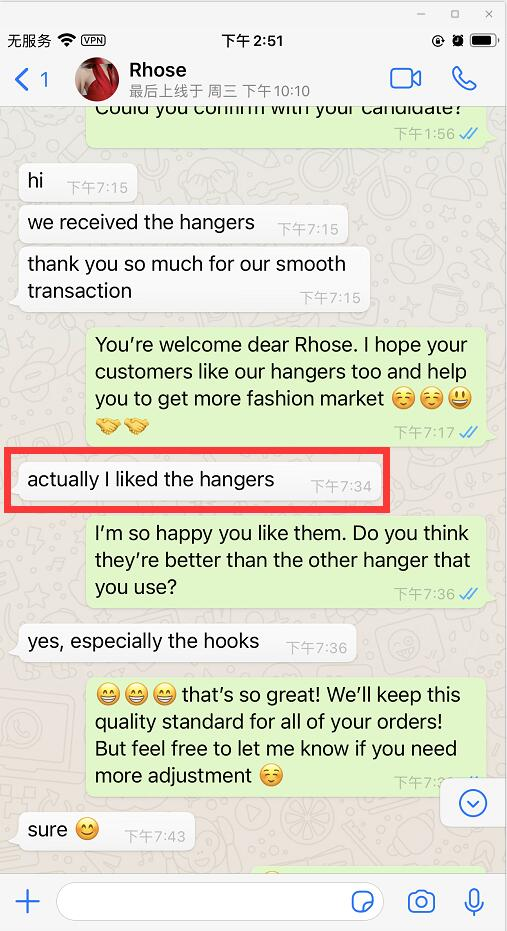 acrylic hangers feedback from Rhose