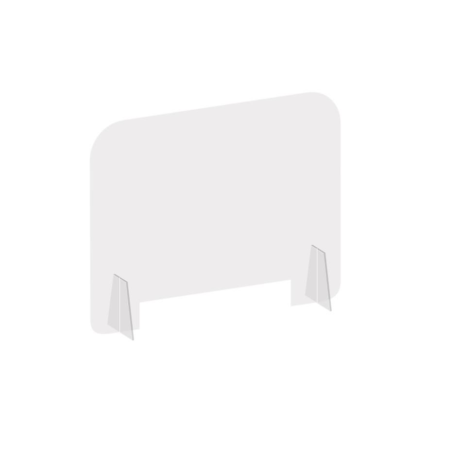countertop clear acrylic shield barrier
