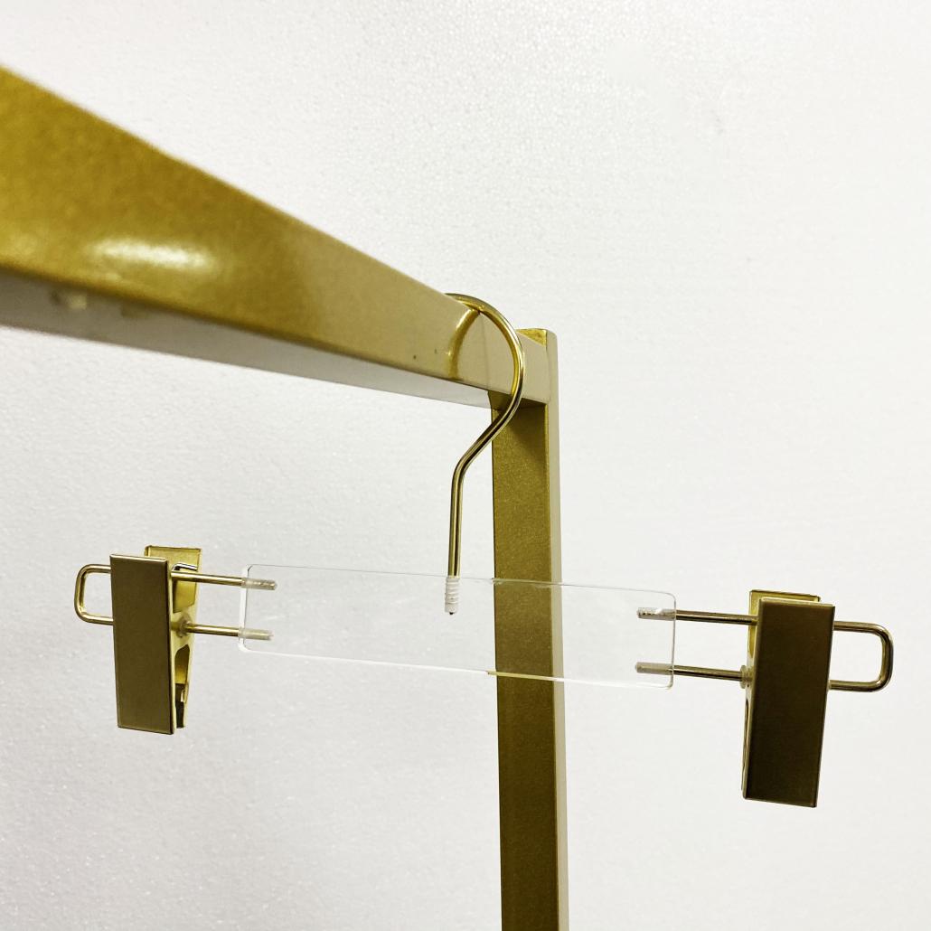 KACH02 Kids Hangers With Clips Acrylic Pants Hangers