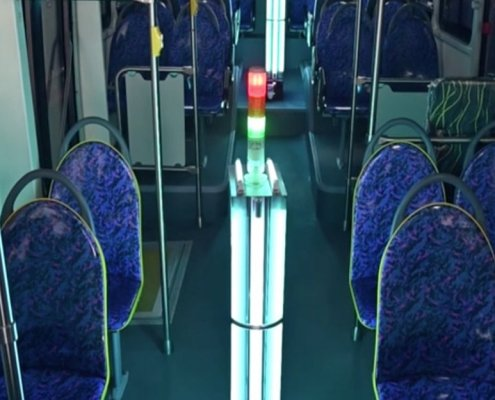 uv lamp on the bus