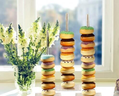 acrylic donut wall stand in bulk