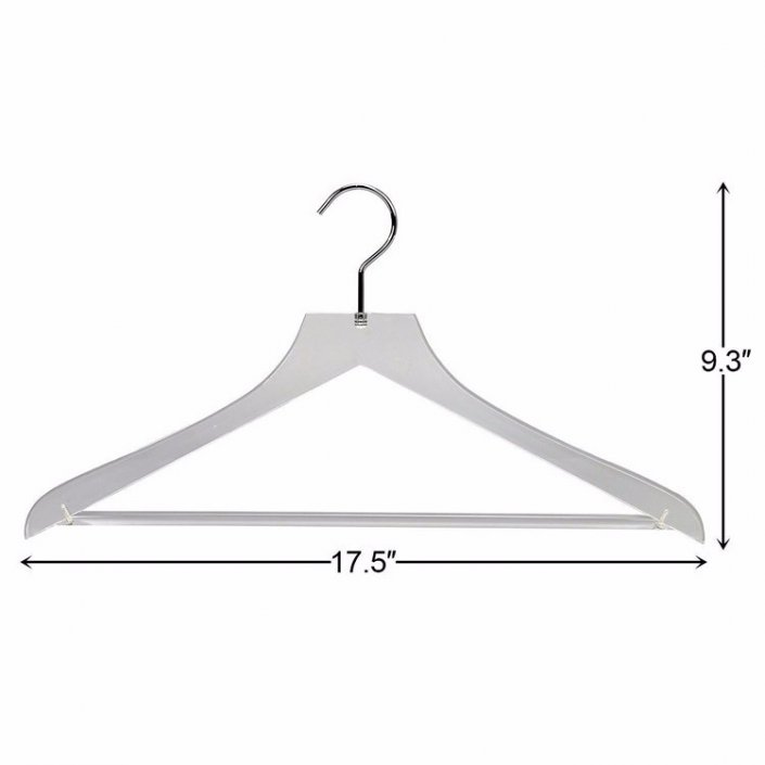 Commercial Clear Hangers With Bar