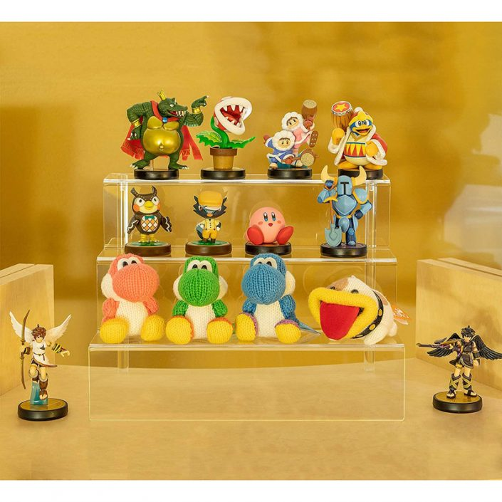 Clear Funko Pops Figures 3 Steps Acrylic Riser Display Stand Shelf -4