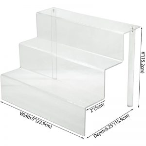 Clear Funko Pops Figures 3 Steps Acrylic Riser Display Stand Shelf