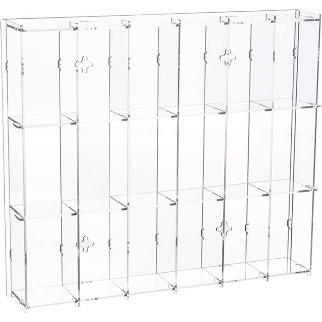 11.8W x 2.16D x 13.97H Assembly Acrylic Wall-Mounted Display Case