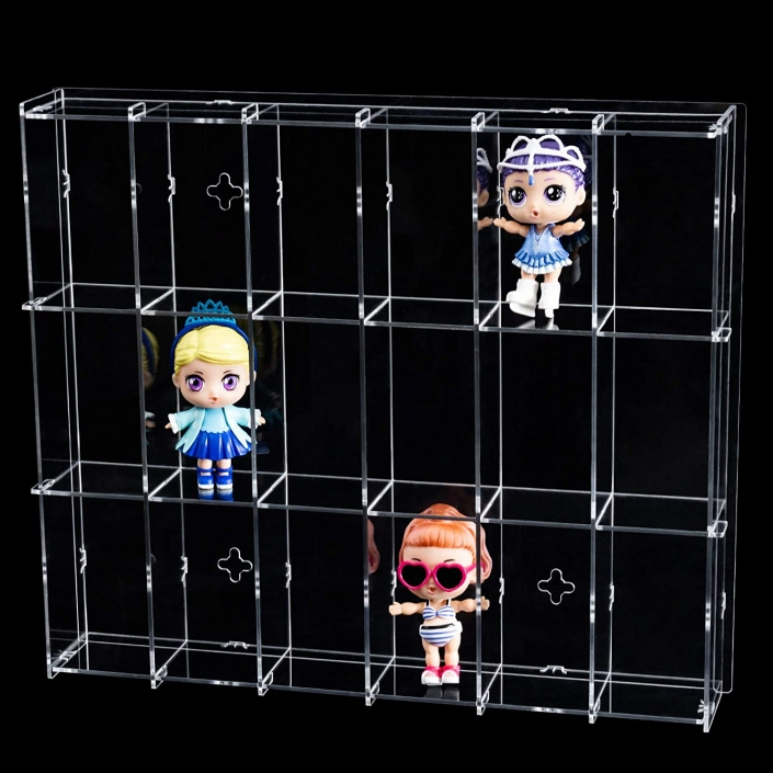 11.8W x 2.16D x 13.97H Assembly Acrylic Wall-Mounted Display Case for figures