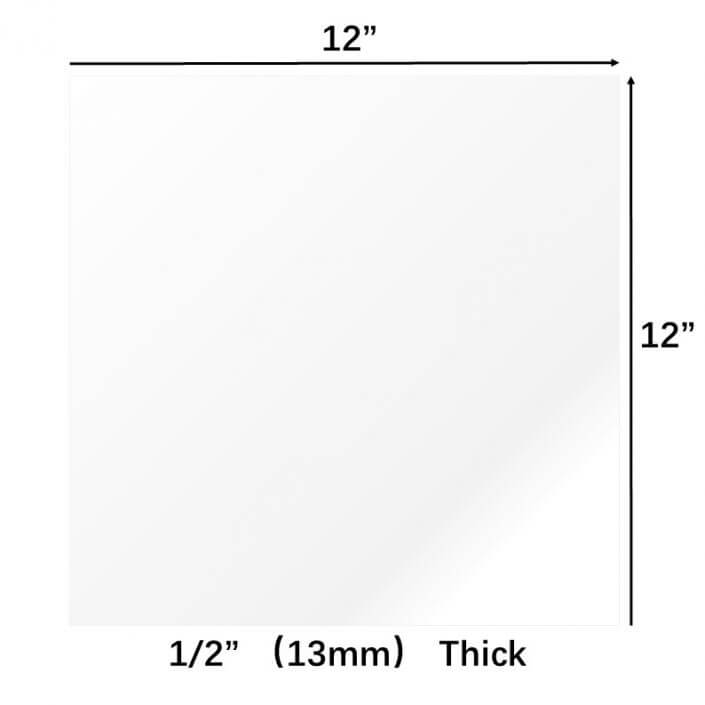"Plexiglass Board 13mm Acrylic Sheet 12""x12"""