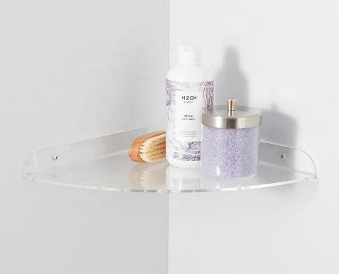 Acrylic Floating Corner Shelves
