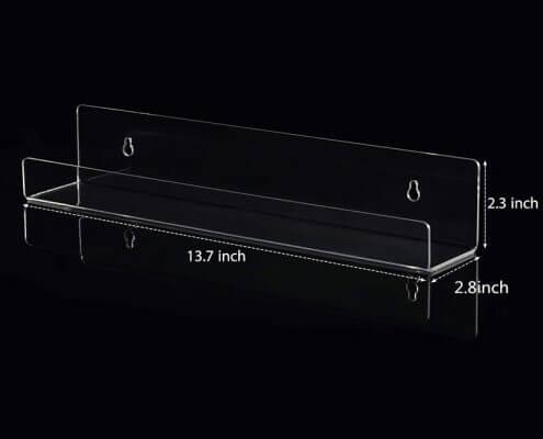 """Wall Mounted Acrylic Floating Bookshelf Ledge 14""""X3"""""""