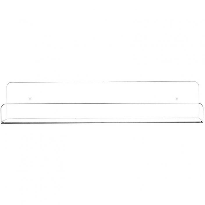 """Wall Mounted Storage Invisible Spice Rack 15""""x4.33"""" Clear Acrylic Floating Shelves"""