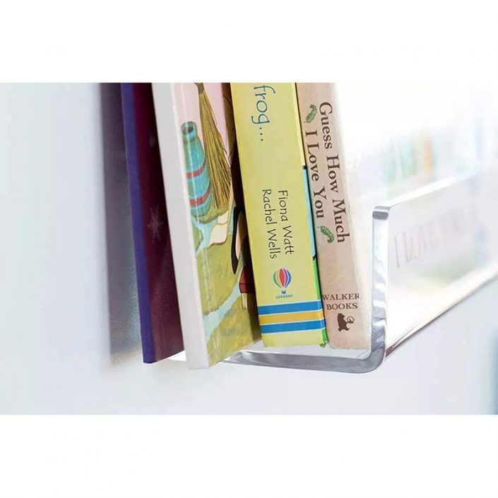 """Wall Mounted Storage Invisible Spice Rack 15""""x4.33"""" Clear Acrylic Floating Shelves -1"""