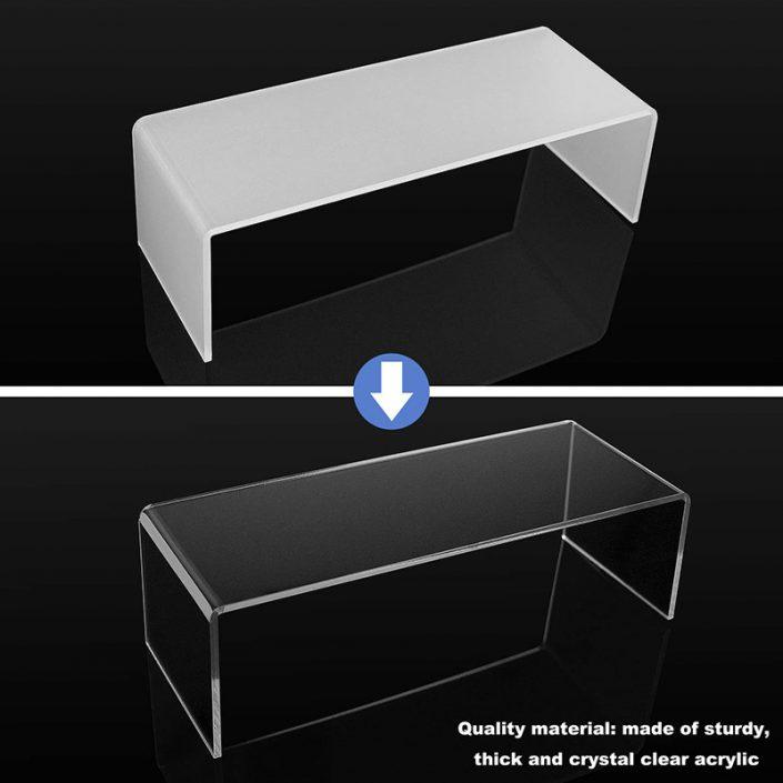U Shape 5 Sizes Large Clear Jewelry Display Shelf Cake Donut Candy Acrylic Display Riser -4