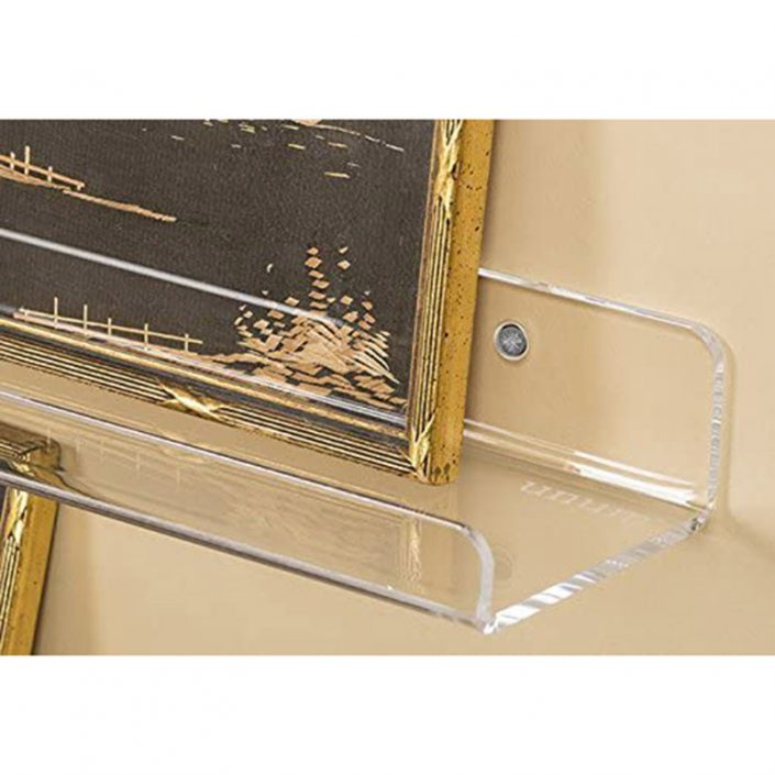 "Acrylic Wall Clear Hanging Floating Shelves 24""x4"" Display Ledges -5"