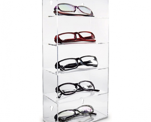 5 Tiers Wall-Mounted Display Case Eyewear Holder Stand Supplier