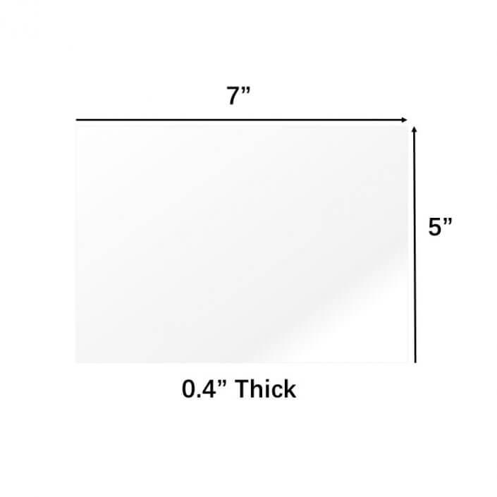 "0.04"" Thick PETG Sheet Plexiglass Panels 5x7"" Acrylic Boards"