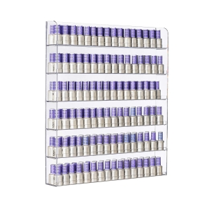 6 Tier Acrylic Wall-Mounted Display Case Nail Polish Rack