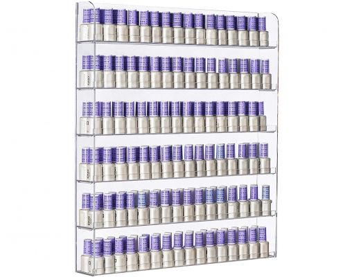 6 Tier Acrylic Wall-Mounted Display Case Nail Polish Rack