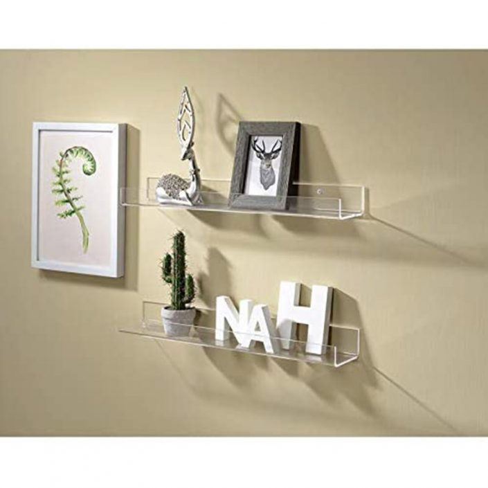 "Wall Mounted Hanging Spice Rack Kids Book Shelves Bathroom Organizer 15""x4"" -1"