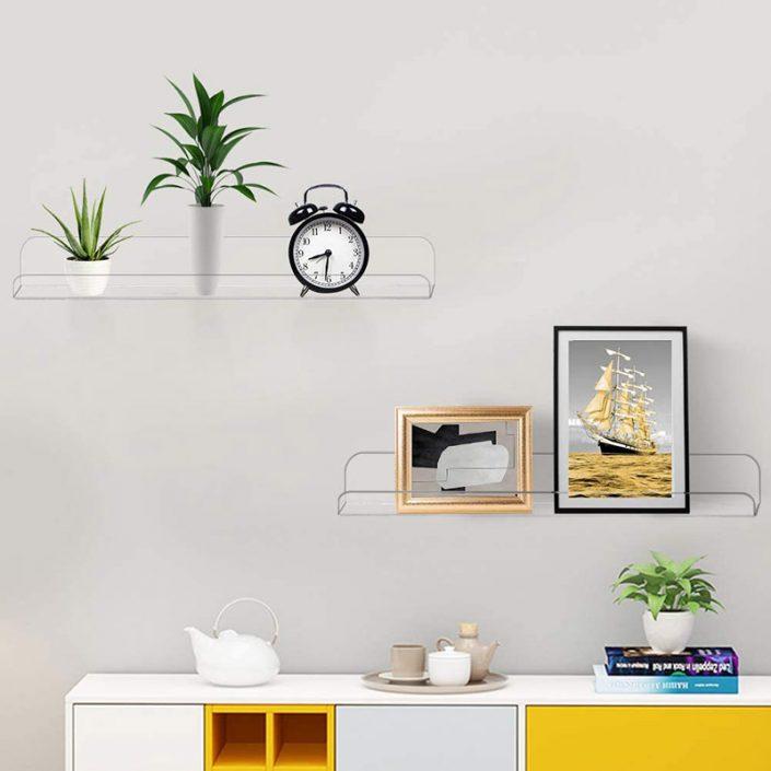 "Wall Mounted Hanging Spice Rack Kids Book Shelves Bathroom Organizer 15""x4"" -3"